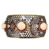 Laura Munder Angel Skin Coral Orange Sapphire Diamond Blackened Gold Bracelet