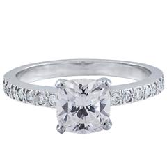 Tiffany & Co. 1.01 Carat Cushion Diamond Platinum Engagement Ring