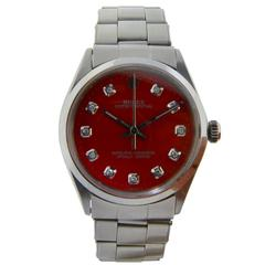 Rolex Stainless Steel Oyster Perpetual with Original Riveted Bracelet Wristwatch