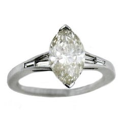 ct 2,20 Diamond White Gold Solitaire Ring
