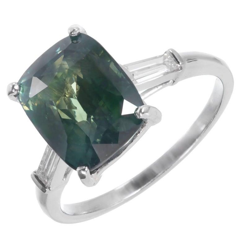 ross pennell deco green sapphire platinum