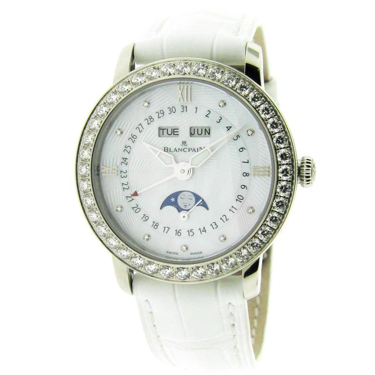 Blancpain Ladies Complete Calendar Self Winding Wristwatch