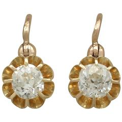 1910s Antique Diamond and Yellow Gold Drop Earrings