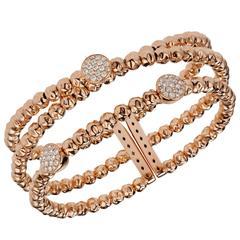 Damaso Martinez Diamond and 18 Karat Rose Gold Bracelet