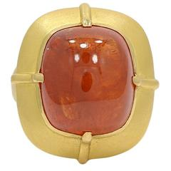 C Tyler Mandarin Garnet Yellow Gold Ring