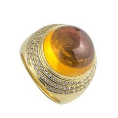 Theo Fennell Diamond and Orange Amethyst Ring