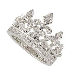 Garrard Diamond White Gold Crown Ring