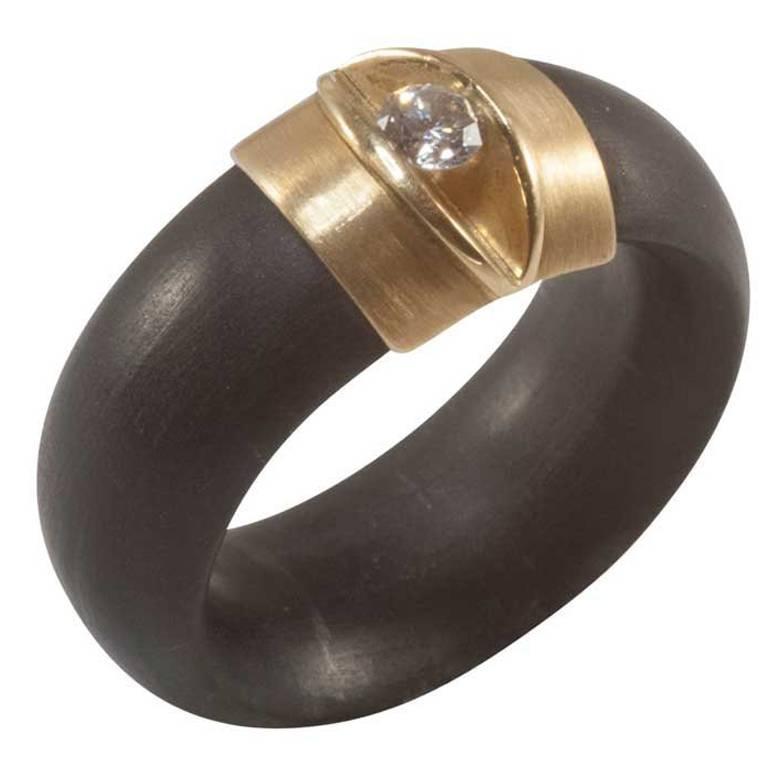 Contemporary Diamond Ring, Rubber Tension Set, Bunz German Design ...