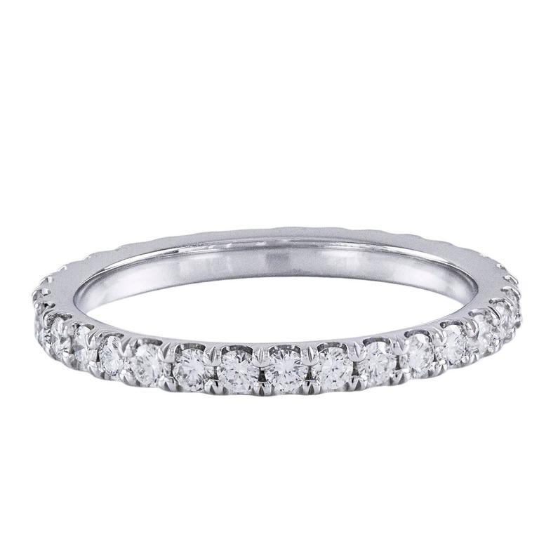 Diamond And Platinum Eternity Wedding Band