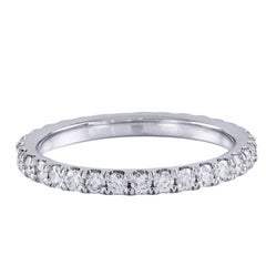 Diamond and Platinum Eternity Wedding Band