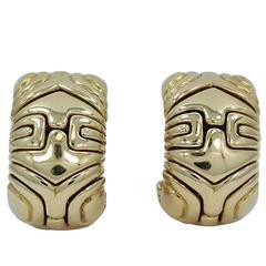 bulgari yellow gold earrings
