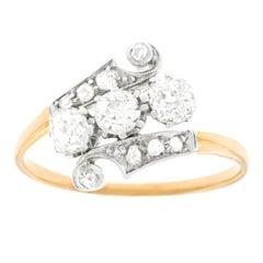 Art Deco Asymmetric Ring