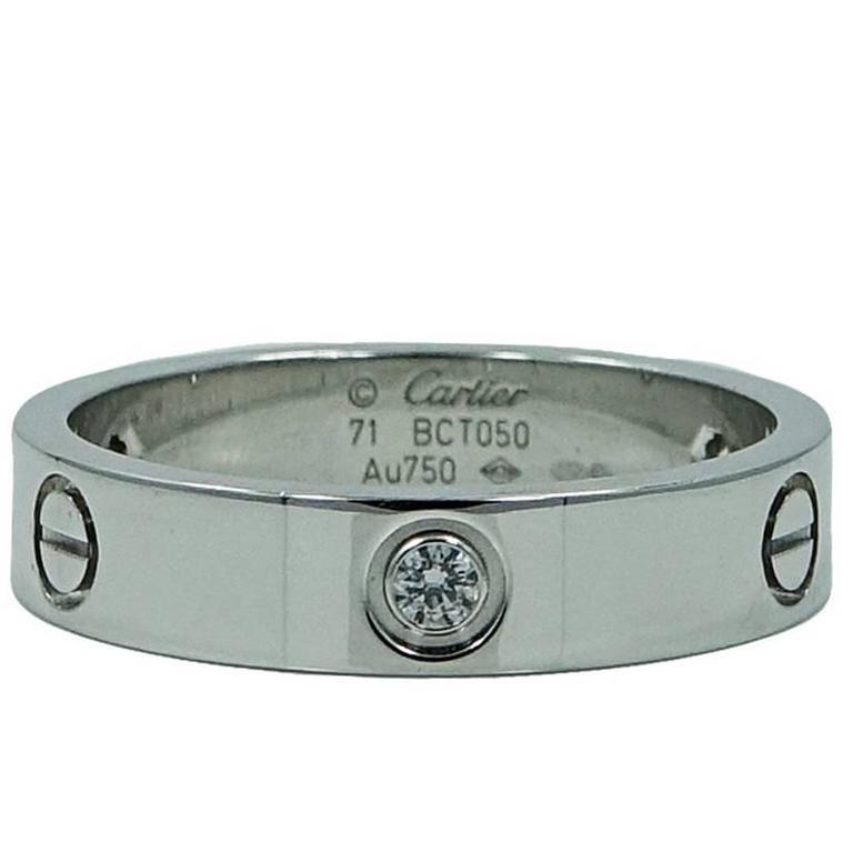 Cartier Diamonds White Gold Love Ring