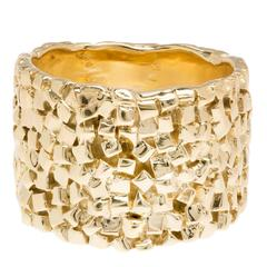 Woven Yellow Gold Band Ring