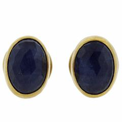 Gurhan Sapphire Gold Stud Earrings