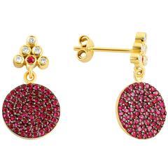 Seraphina Drop Earrings, 1.28 Carat Mozambique Rubies