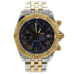 Breitling Rose Gold and Steel Evolution Chronomat automatic Wristwatch Ref13356