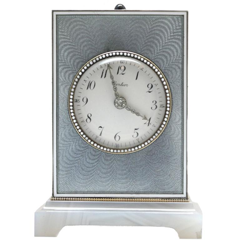 Cartier Edwardian Minute Repeater Boudoir Clock 1