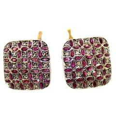 Luise Gold Diamond Ruby Stud Earring