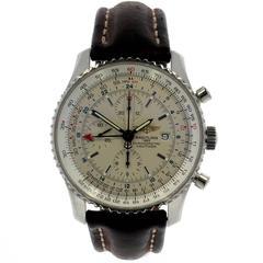Breitling Stainless Steel Navitimer World Chronometre Automatic Wristwatch