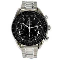 Omega Stainless steel Speedmaster Reduced chronograph Automatic Wristwatch