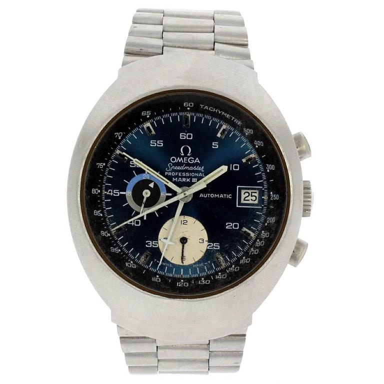 Omega Stainless Steel Speedmaster MKIII Chronograph automatic wristwatch