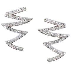 Ines Wavy Line Stud Earrings