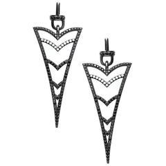 Cristina Five Kiss Gold Plated Rhodium Diamond Earrings