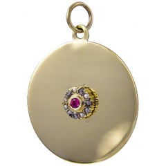 Antique Ruby Gold Charm