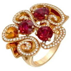 Burma Ruby Ring Rounds 3.82 Carats