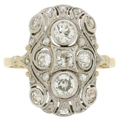 Two-Tone  Diamond Dinner Ring