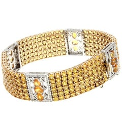 Luise Sapphire Diamond Gold Bracelet