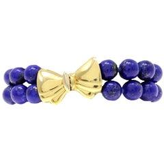 Lapis Gold Bracelet