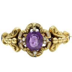 Luise Pearl Amethyst Gold Bracelet
