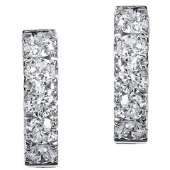 Crivelli 1.48 Carat Diamond white gold Hoop Earrings