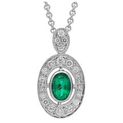Imp Jewelry Columbian Emerald and Diamond Pendant