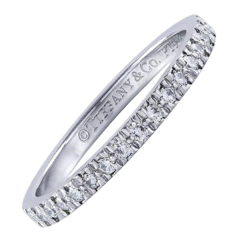 Tiffany & Co. Diamond Platinum Eternity Wedding Band Ring