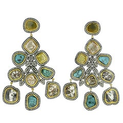 Slice Diamond Gold Earrings
