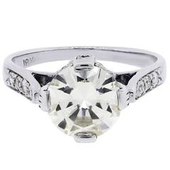 EGL Certified Diamond White Gold Engagement Ring