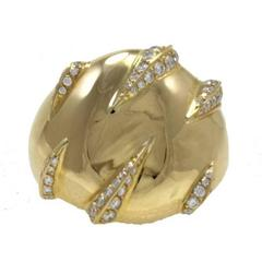 Cartier  Gold Diamond Dome Ring