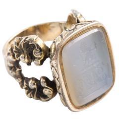 Quartz Intaglio Ring