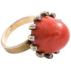 Edwardian Coral Ring