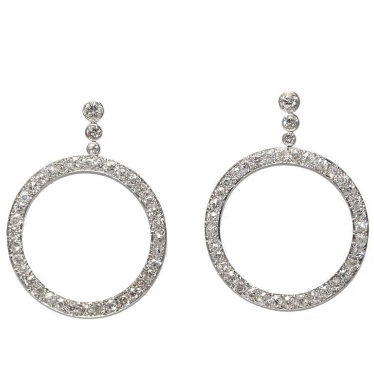 Boucheron Diamond Platinum Créole Earrings 1