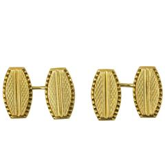 18 Karat Gold Art Deco Cufflinks