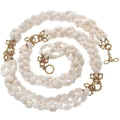 Valentin Magro Multi-Strand White Coral Necklace