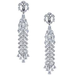 Diamond Gold Chandelier Earrings