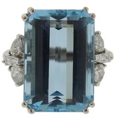 H Stern Aquamarine Diamond Gold Ring