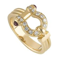 Van Cleef & Arpels Horseshoe Diamond and Ruby Ring