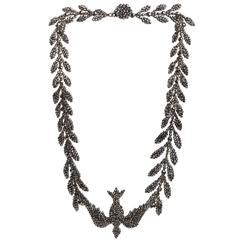 Early 19th Century Cut Steel Bird Necklace
