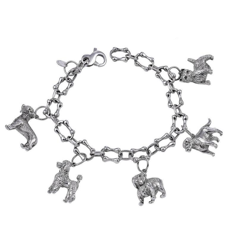 99892cc6f Great Tiffany and Co. Sterling Dog Charm Bracelet at 1stdibs